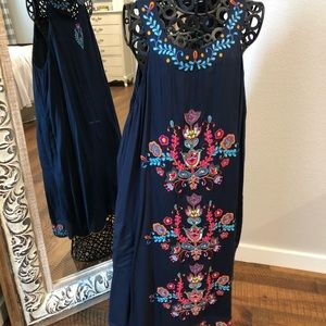 Boston proper embroidered dress